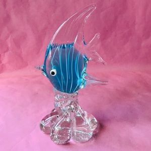Vintage thick glass fish decor